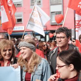 Josephine Ortleb bei einer Demonstration