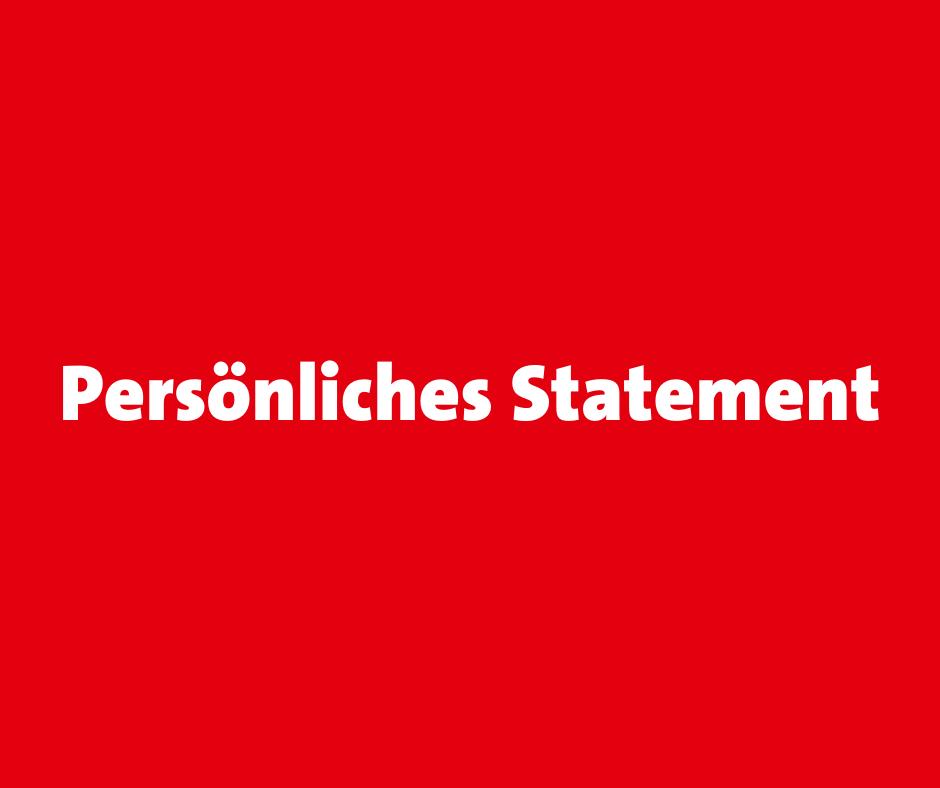 Persönliches Statement Josephine Ortleb